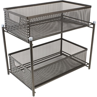 sorbus 2 Tier Organizer Baskets with Mesh Sliding Drawers, Bronze
