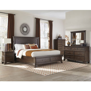 Telluride Vintage Oak Storage Bed
