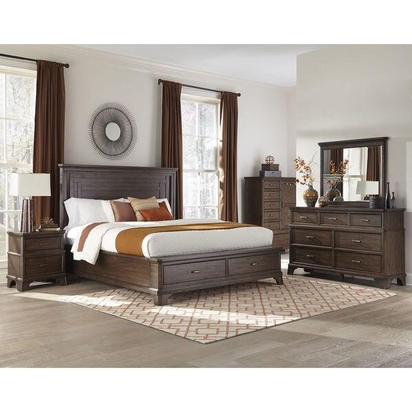 Telluride Vintage Oak Storage Bed