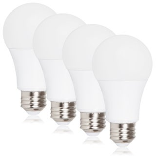 Maxxima Dimmable A19 800 Lumens 9 Watts Warm White LED Light Bulb (Pack of 4)