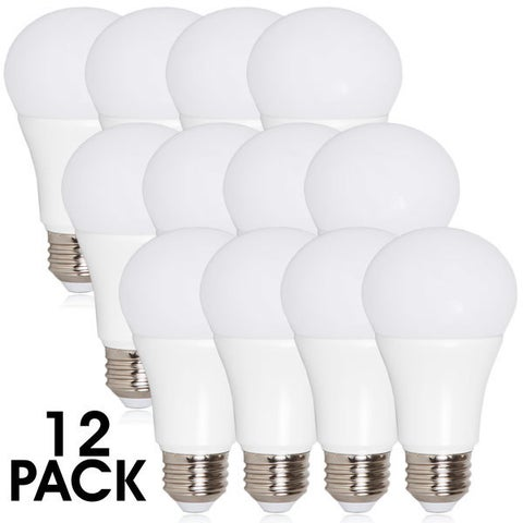Maxxima A19 800 Lumens 10 Watts Warm White LED Light Bulb (Pack of 12)
