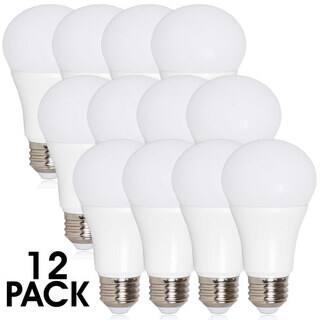 Maxxima A19 800 Lumens 10 Watts Warm White LED Light Bulb (Pack of 12)