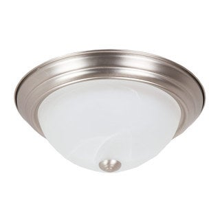 Maxxima Style 13-inch Bowl Nickel Metal Warm White 23 Watt 1650 Lumens LED Ceiling Mount