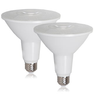 Maxxima Style PAR38 Indoor/Outdoor Dimmable LED Warm White Bulb 1200 Lumens (2 Pack)