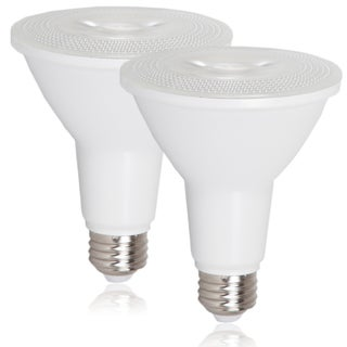 Maxxima Style PAR30 Indoor/Outdoor Dimmable 800-lumen LED Warm White Bulb (Set of 2)