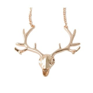 24-inch Deer Skull Fashion Necklace