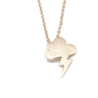 LilahV Electric Bolt Necklaces