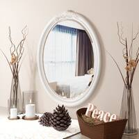 Furniture of America Margie Traditional Elegant Fairy Tale Style White Mirror