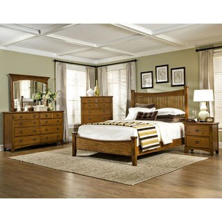 Pasadena Revival Mission Slat Bed Set