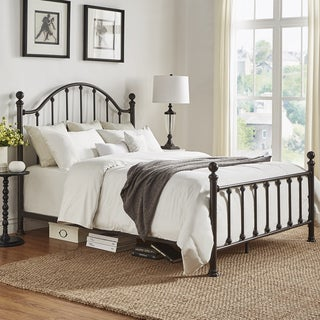Barnes Dark Bronze Victorian Metal Bed by TRIBECCA HOME