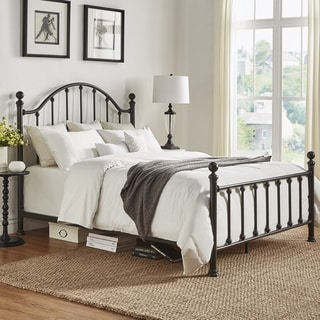 TRIBECCA HOME Barnes Dark Bronze Victorian Metal Bed
