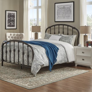 TRIBECCA HOME Stella Dark Bronze Victorian Metal Bed