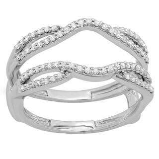 Elora 10K White or Yellow Gold 1/3 ct. TDW White Diamond Band Guard (H-I, I1-I2)