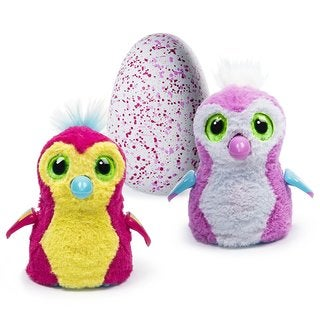Hatchimals Hatching Egg Penguala by Spin Master - Pink/Red