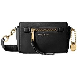 Marc Jacobs Recruit Black Leather Crossbody Handbag