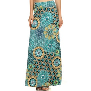 Women's Mandala Maxi Skirt