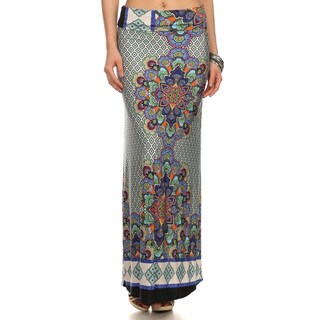 Women's Multicolor Polyester Geometric Paisley Maxi Skirts