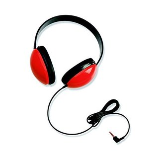 Califone 2800-RD Listening First Headphones in Red (Set of 2)