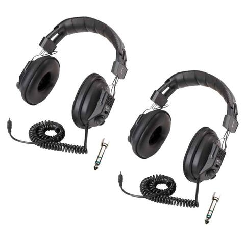 Califone 3068AV Switchable Stereo/Mono Headphones (2-Pack) Bundle