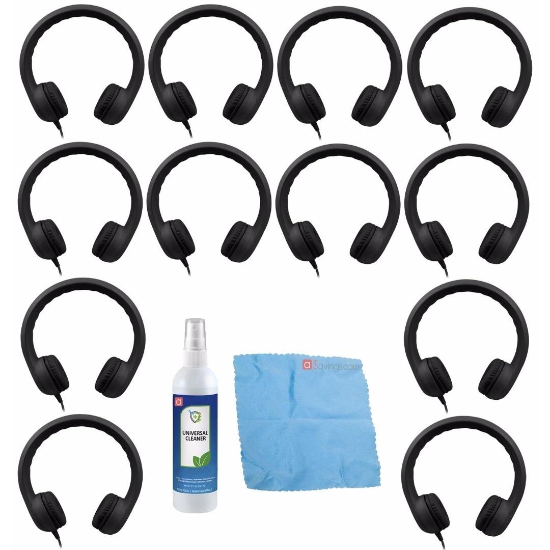 Hamilton Buhl Flex-Phones, Foam Headphones, Black (12 pac...