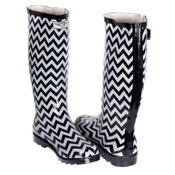 Black And White Rain Boots For Women
