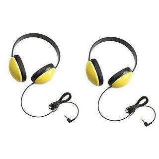 Califone 2800-YL Listening First Headphones in Yellow (Set of 2)