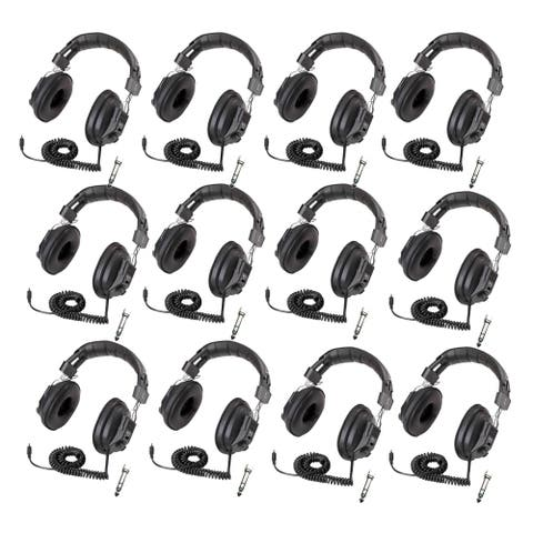 Califone 3068AV Switchable Stereo/Mono Headphones 12-Pack Bundle