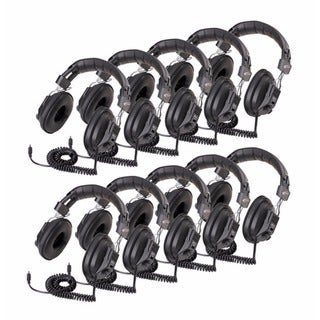 Califone 3068AV Switchable Stereo/Mono Headphones (10-Pack)