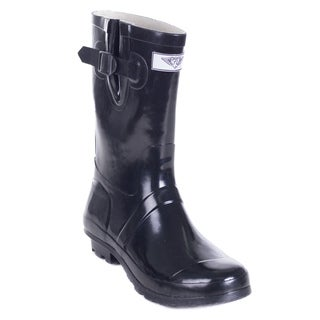 Link to Women's Black Rubber 11-inch Classic Rain Boots Similar Items in Women's Shoes