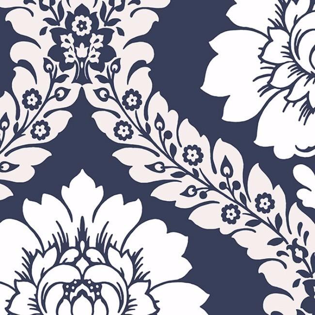 Manhattan Comfort Floral Damask Paper and Vinyl 32.7-foot...