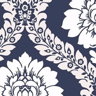 Manhattan Comfort Floral Damask Paper and Vinyl 32.7-foot x 20.5-inch Wallpaper