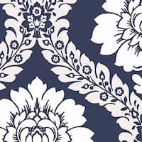Manhattan Comfort Floral Damask Paper and Vinyl 32.7-foot x 20.5-inch Wallpaper - 32.7' x 20.5