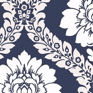 Manhattan Comfort Floral Damask Paper and Vinyl 32.7-foot x 20.5-inch Wallpaper - 32.7' x 20.5 (More options available)