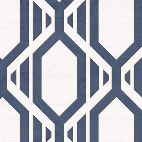 Cardiff Geometric Stripe 32.7-foot x 20.5-inch Wallpaper - 32.7' x 20.5