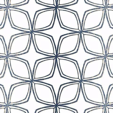 Dudley Geometric Flower 32.7' by 20.5 Wallpaper - 32.7' by 20.5