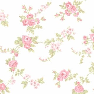 Manhattan Comfort Willingford Multicolor Vinyl 32.7-foot x 20.5-inch Rose Floral Trail Wallpaper