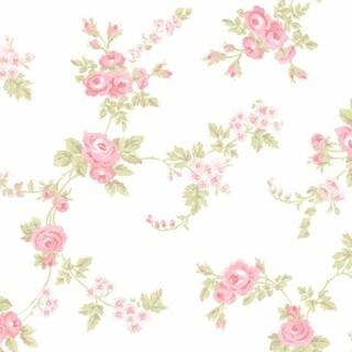 Manhattan Comfort Willingford Multicolor Vinyl 32.7-foot x 20.5-inch Rose Floral Trail Wallpaper - 32.7' x 20.5