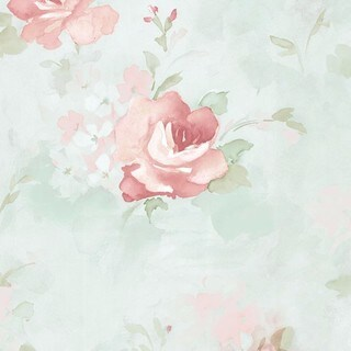 Waterbury Floral Watercolor 32.7-foot x 20.5-inch Wallpaper - 32.7' x 20.5