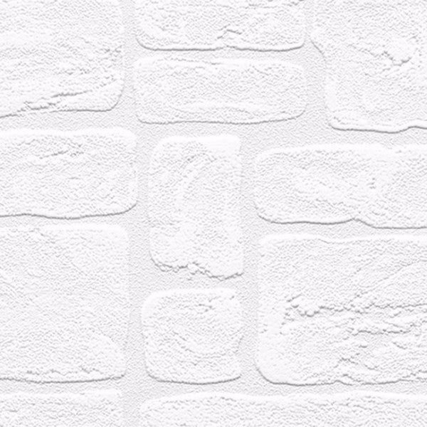 Andrew White Textured Paintable Bricks 33-foot x 21 Wallpaper
