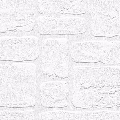 Andrew White Textured Paintable Bricks 33-foot x 21 Wallpaper