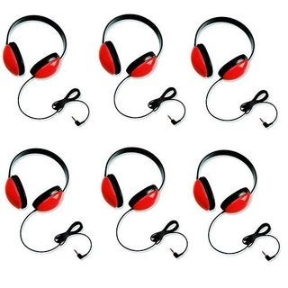 Califone 2800-RD Listening First Headphones in Red (Set of 6)