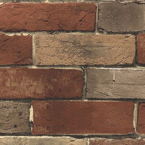 Weston Rust Brick 32.7-foot x 20.5-inch Wallpaper
