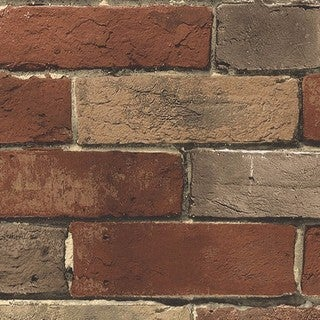 Weston Rust Brick 32.7-foot x 20.5-inch Wallpaper (2 options available)