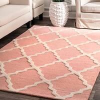nuLOOM Handmade Alexa Moroccan Trellis Wool Rug (2' x 3')