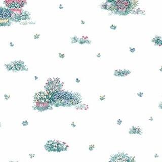 Manhattan Comfort 'Cocoa' Multicolored Paper/Vinyl Floral Garden Wallpaper