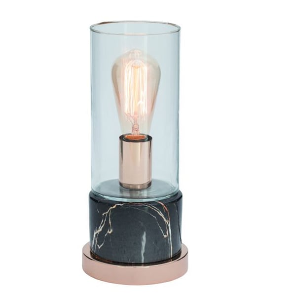 Chic Gold Ceramic, Metal, and Glass Table Lamp