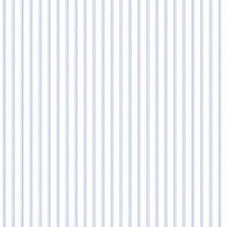 Brooksville Blue Vinyl Striped Wallpaper
