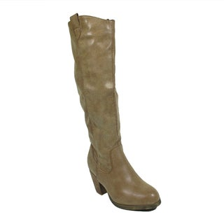Blue Women's 'Mooresy' Tan Synthetic Leather Dress Mid-calf Boots