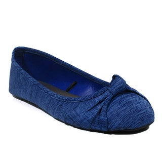 Blue Women's Ziggs-HTR Heather Ballerina Flats