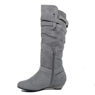 Blue Women's Langie Suede Dress Mid-calf Fashion Boots